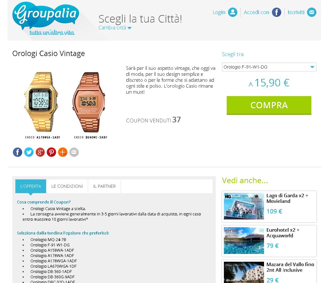 Orologi Casio vintage scontati grazie ad un codice sconto esclusivo! 8ab59868859