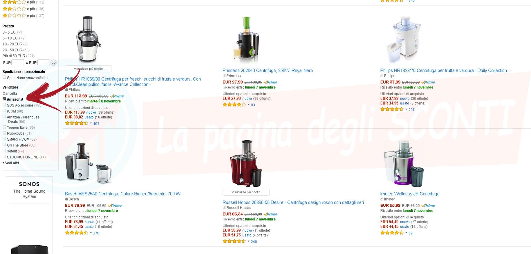 d3092f6676ab53 Come selezionare i prodotti venduti e spediti da Amazon