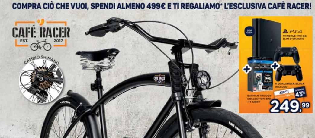 Unieuro Bici Cafè Racer In Regalo Con Una Spesa Di Almeno 499