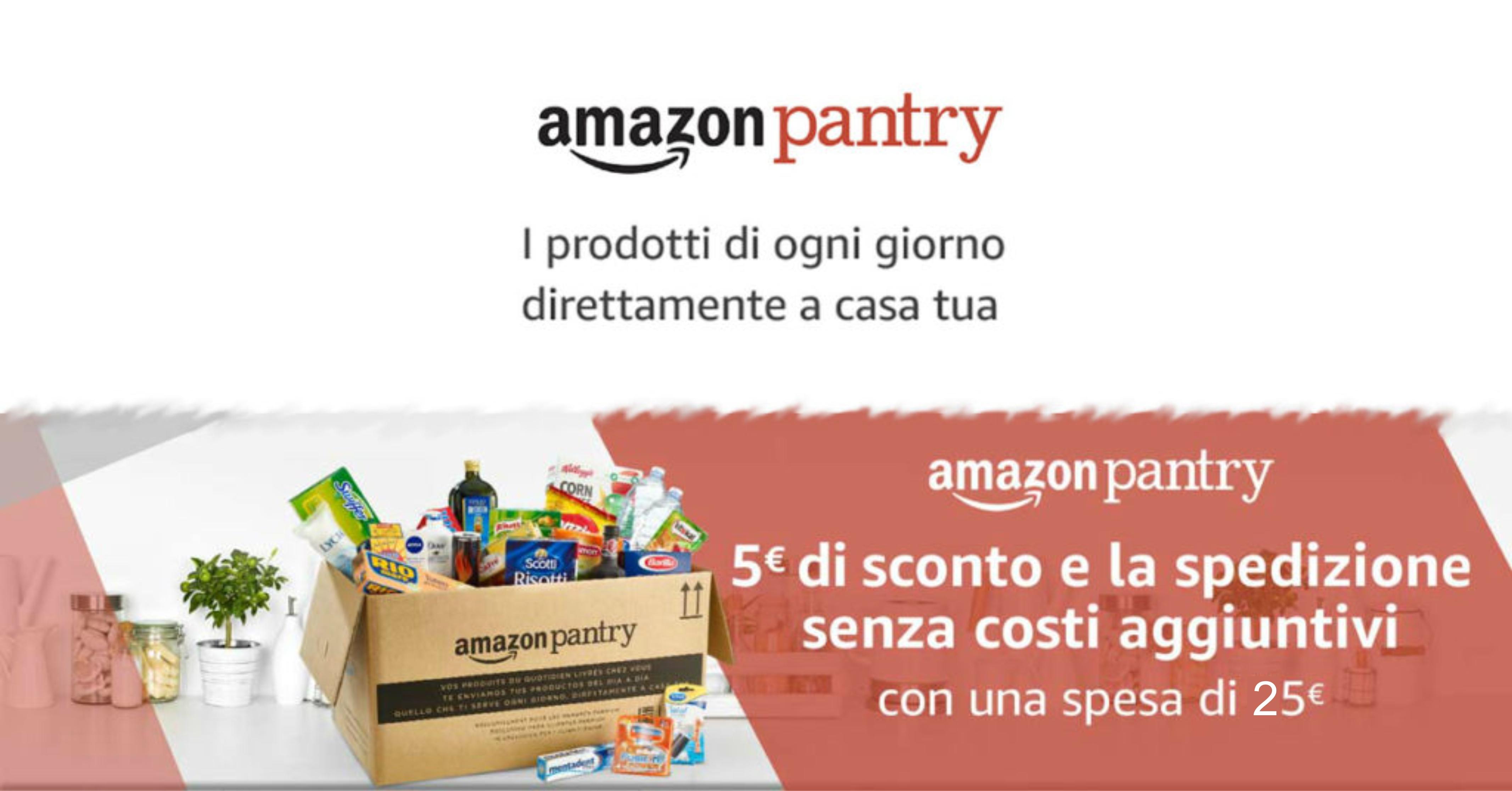 Amazon pantry 5 di sconto e spedizione gratuita su un for Codice coupon amazon