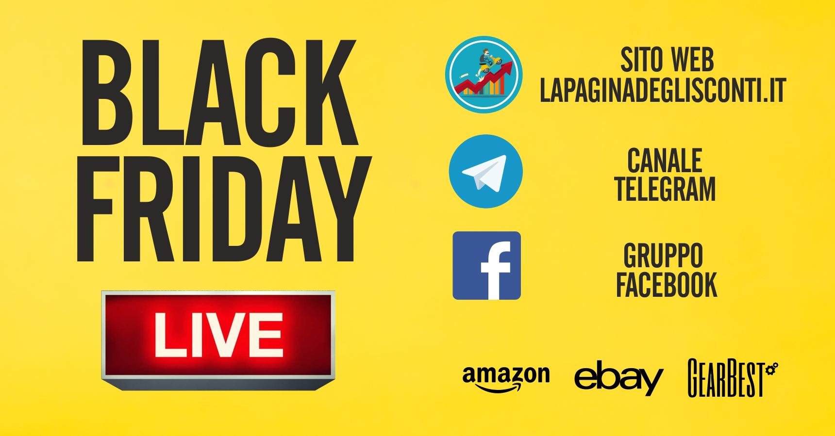 Black Friday 2017 come seguirlo in diretta