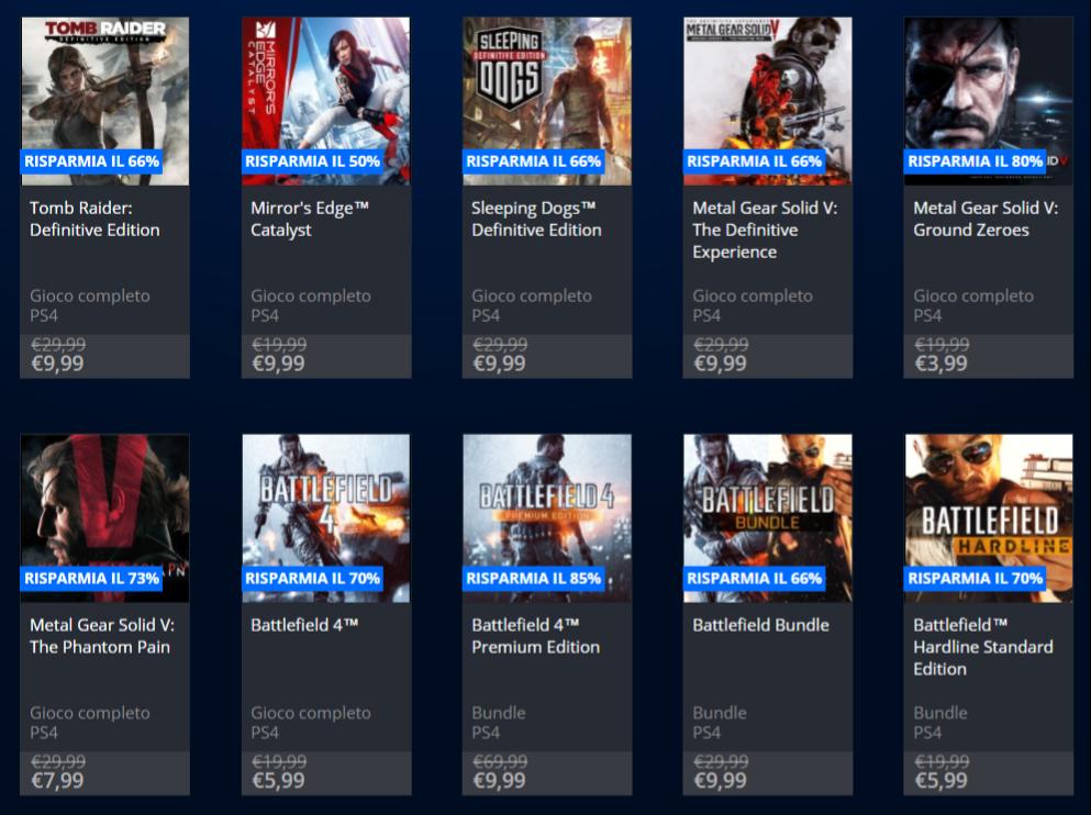 giochi a meno di 10€ PlayStation Store
