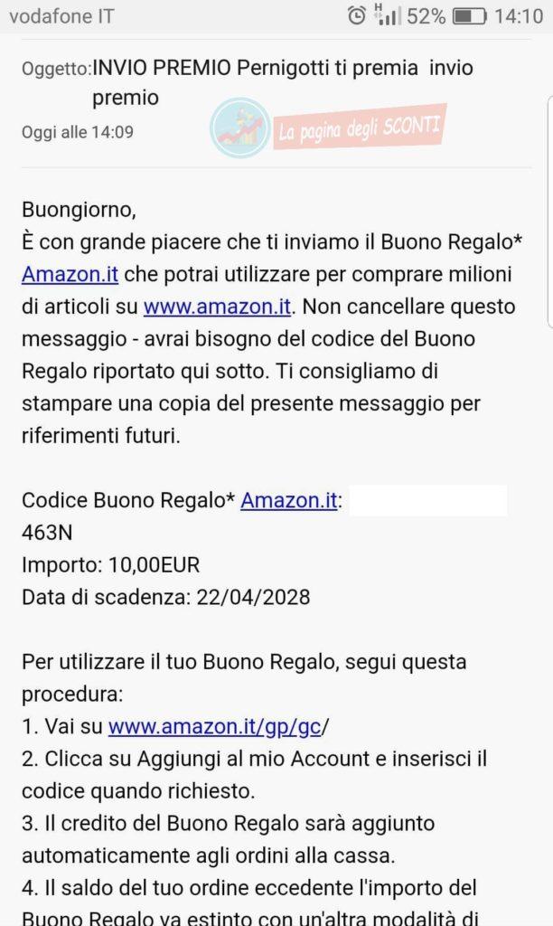 buono Amazon Pernigotti