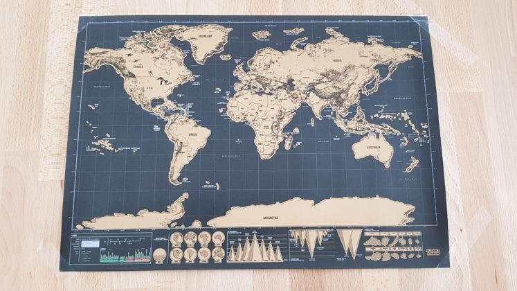 Mappa del Mondo da gratttare