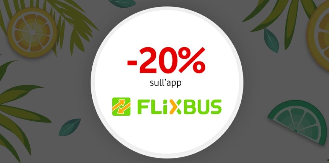 sconto Flixbus, Panasonic o GNV