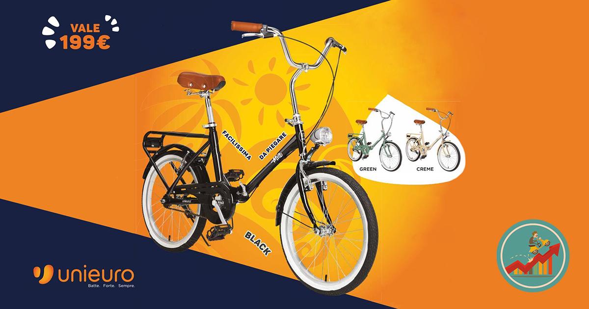 Ricevi La Bici Pieghevole Mia In Omaggio Con Unieuro