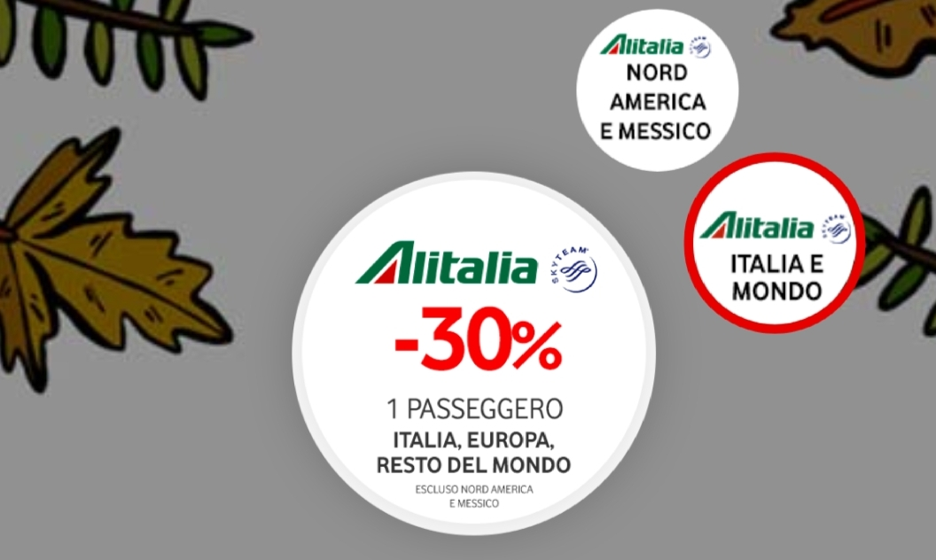buoni sconto Alitalia