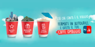 caffè gratis da autogrill