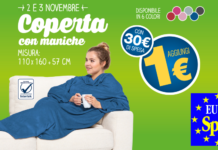 coperta con maniche eurospin
