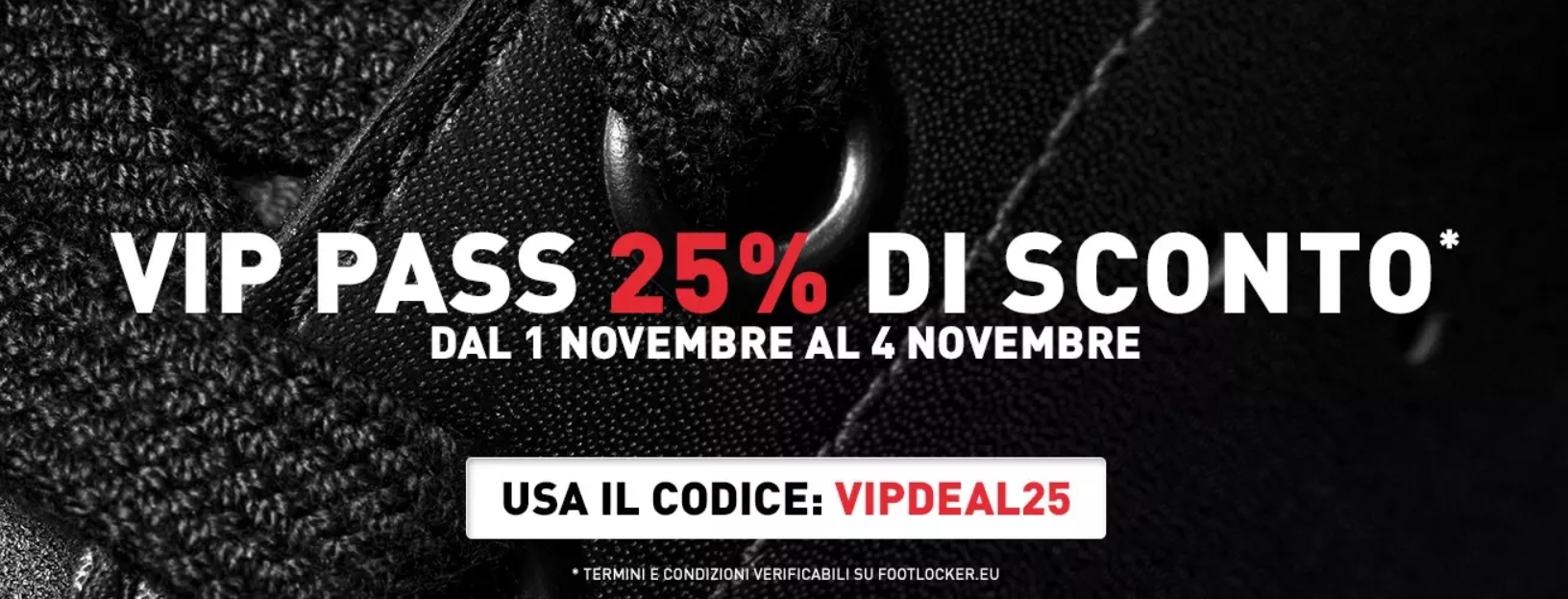 Vip Pass Foot Locker Novembre 2018