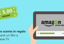 buono amazon di 5€ con prime video