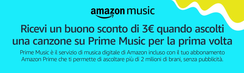 buono sconto amazon music unlimited
