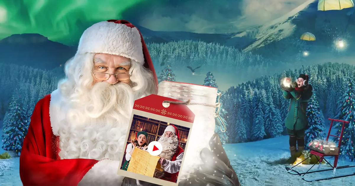 Immagini Natalizie Gratuite.Crea Gratis E Dedica Il Video Messaggio Personalizzato Di Babbo Natale