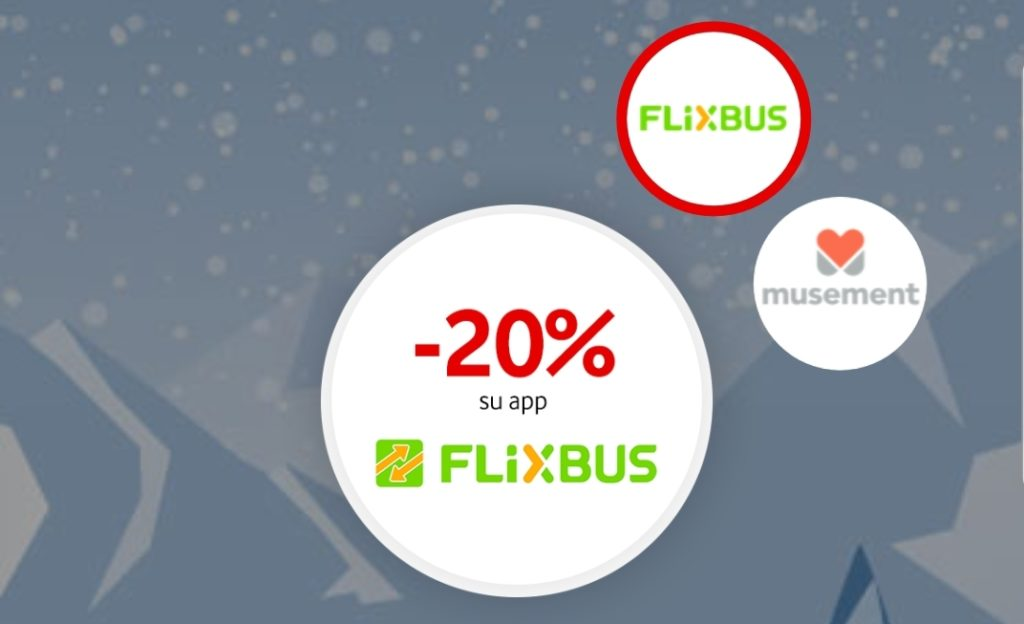 buono sconto del 20% Flixbus