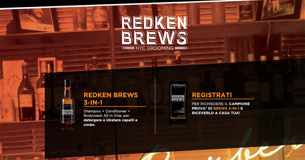 campioni omaggio redken brews