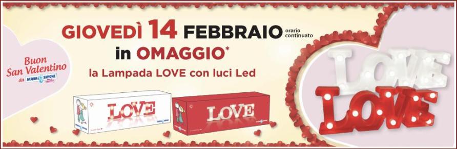 lampada love in omaggio