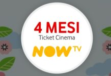 4 mesi di Ticket Cinema Now TV