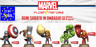 supereroi marvel in omaggio