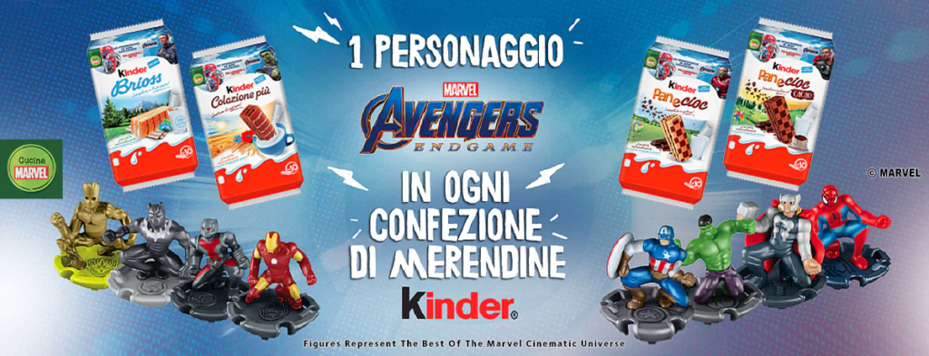 kinder regala i personaggi avengers