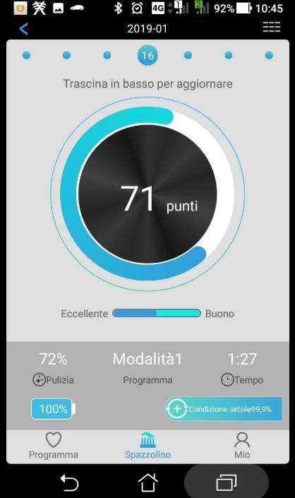 spazzolino elettrico proscenic app