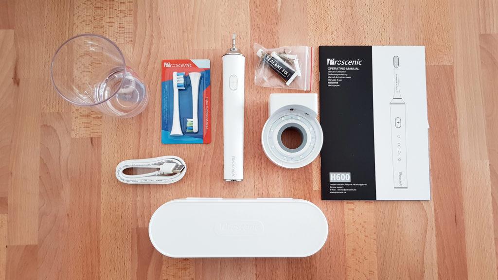 spazzolino elettrico proscenic contenuto