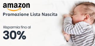 promo lista nascita amazon