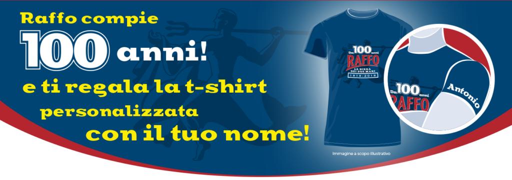 t-shirt personalizzata raffo