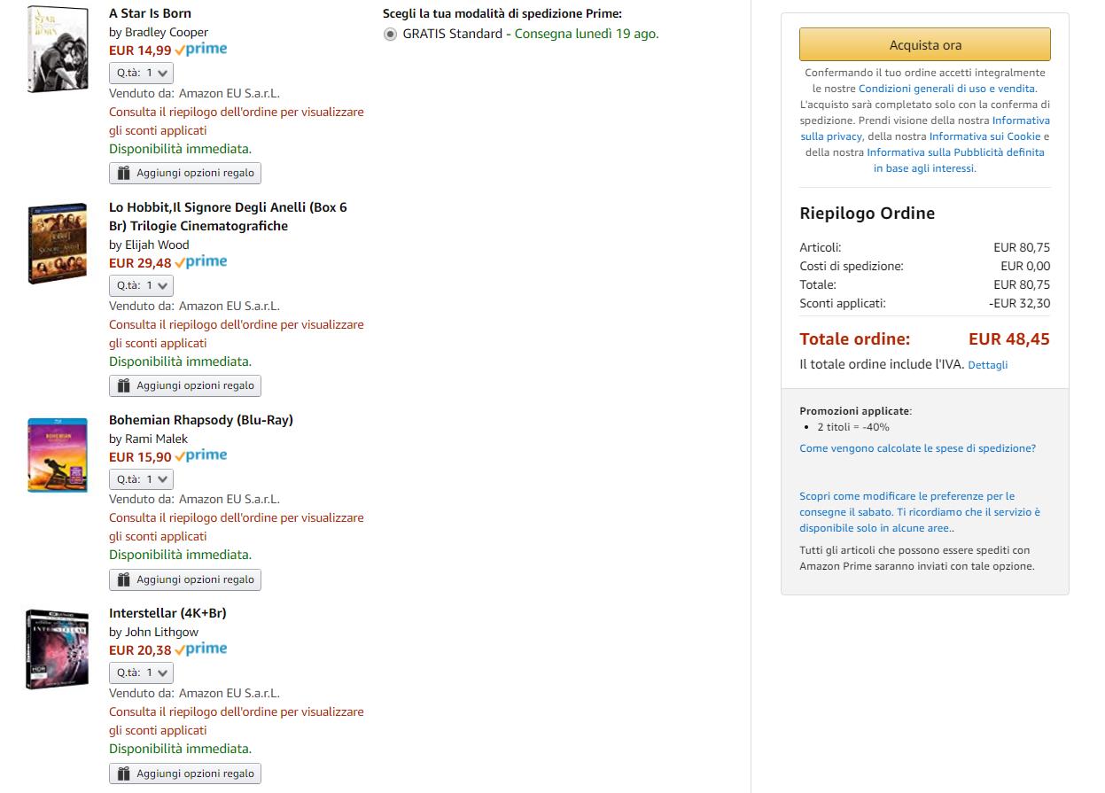 64ac4bc005 Amazon: tantissimi DVD e Blu-Ray selezionati al 40% di sconto!