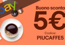 codice sconto ebay caffè