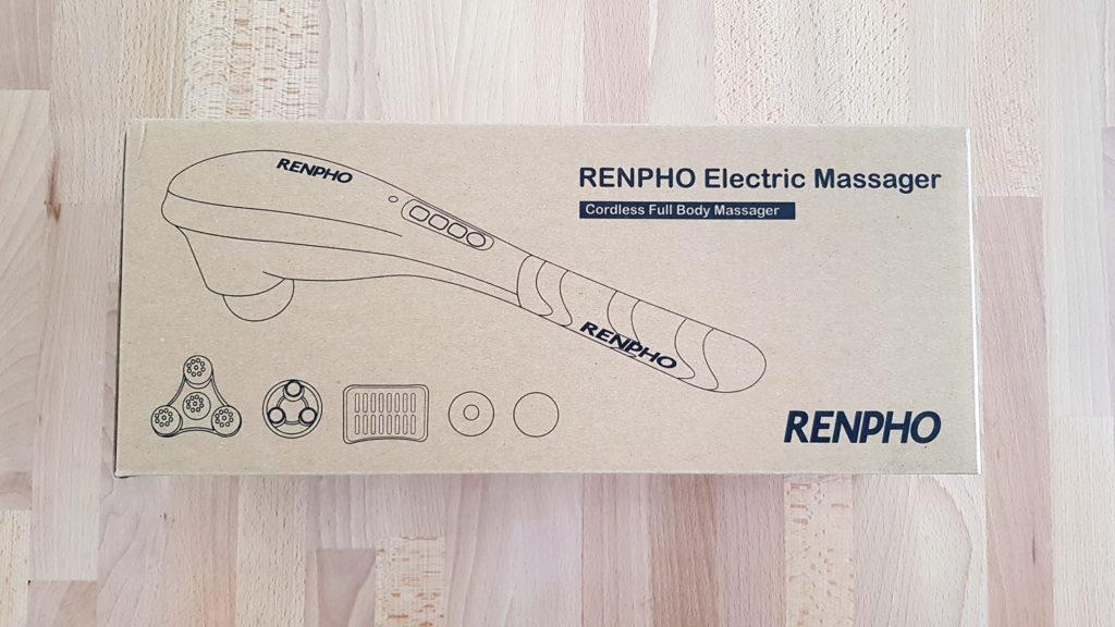 recensione massaggiatore elettrico a percussione renpho scatola