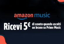 amazon prime music buono 5€