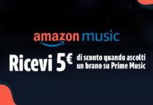 amazon prime music buono 5€