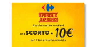 carrefour sconto 10€