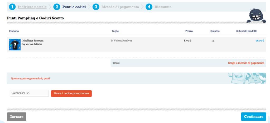 t-shirt sconto pampling screenshot 1