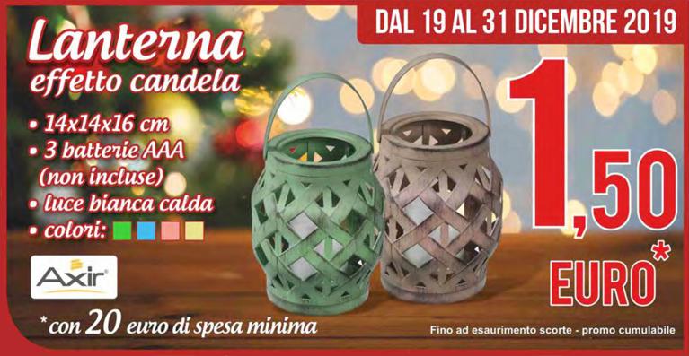 lanterna effetto candela md