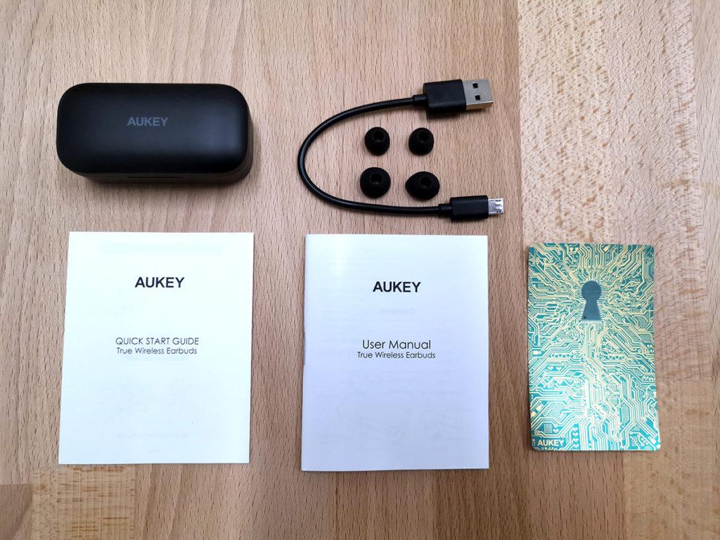cuffie aukey airpods contenuto