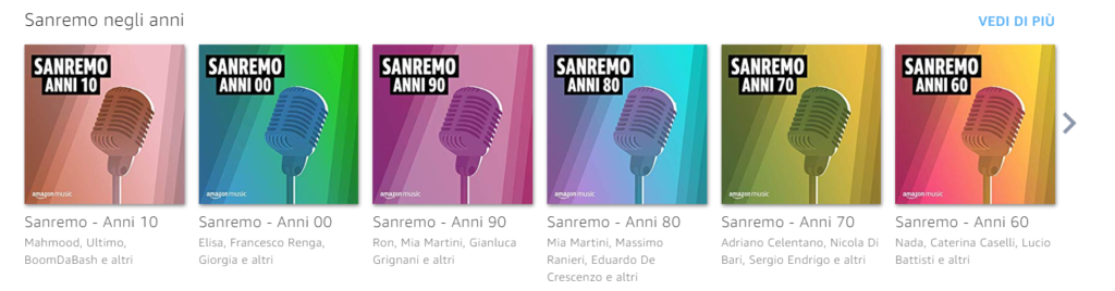 Amazon Music Sanremo 2020