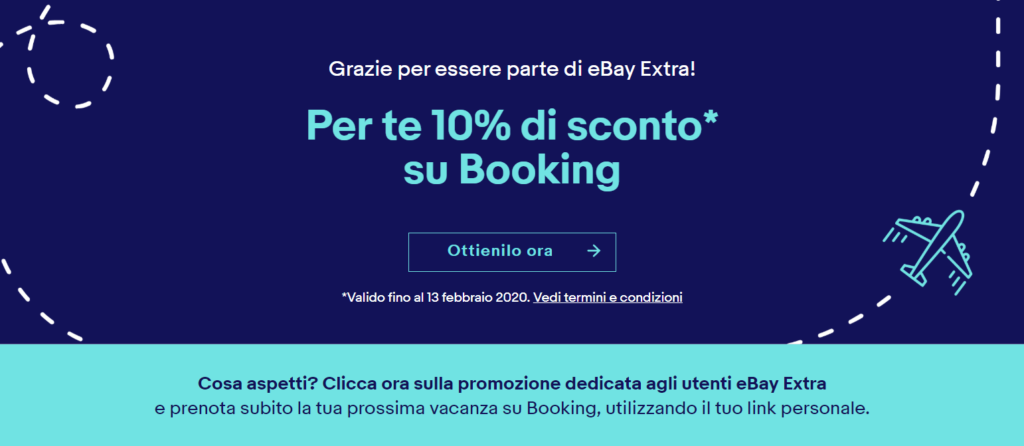 ebay extra sconto booking