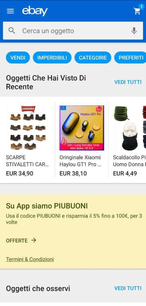 ebay piubuoni screenshot