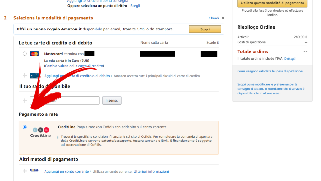 amazon cofidis screenshot 2
