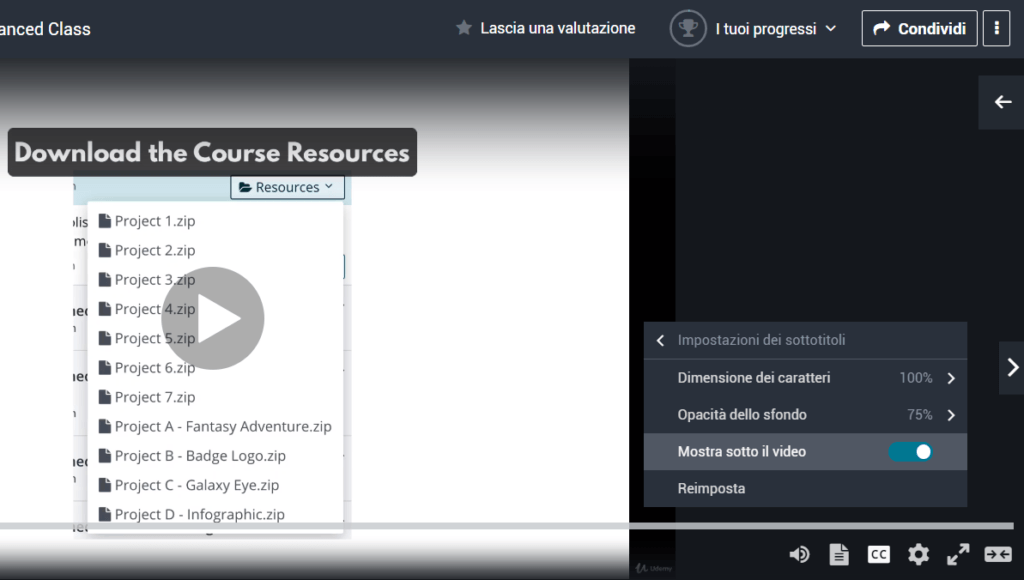 corsi udemy inglesi in italiano screenshot 2