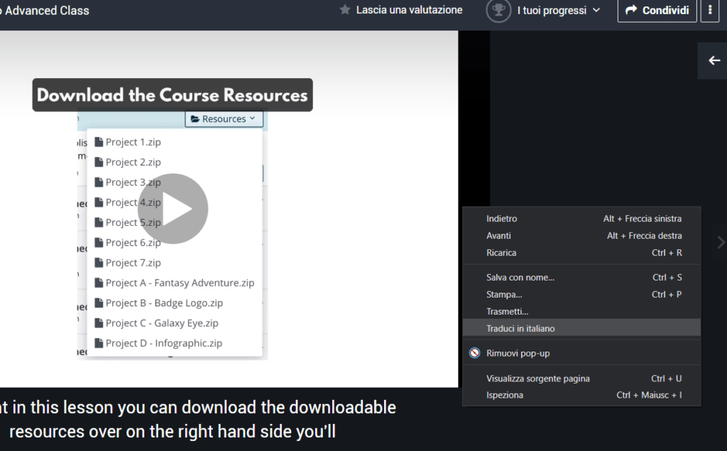 corsi udemy inglesi in italiano screenshot 3