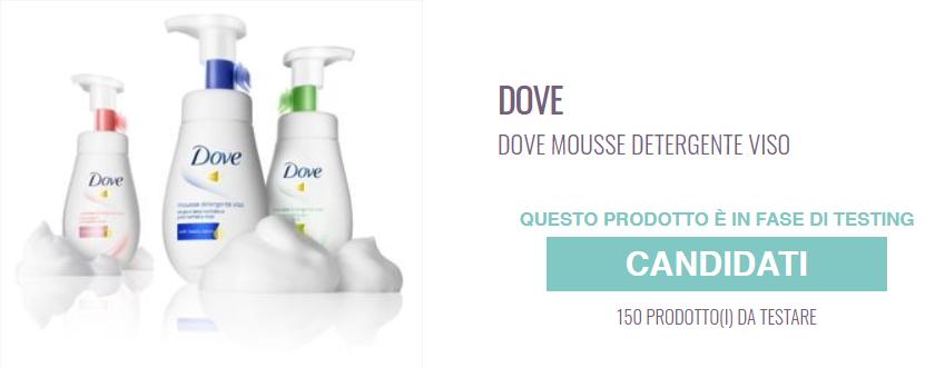 mousse detergente viso dove gratis