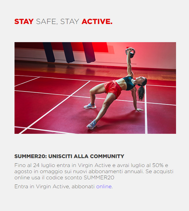 sconto virgin active