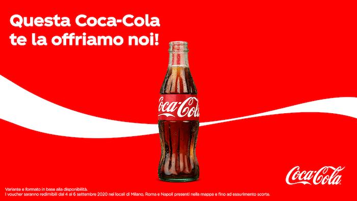 coca cola bottiglietta gratis