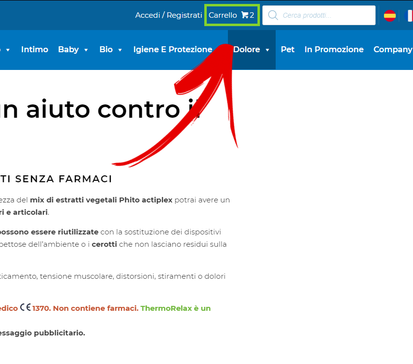 thermorelax sconto screenshot 2