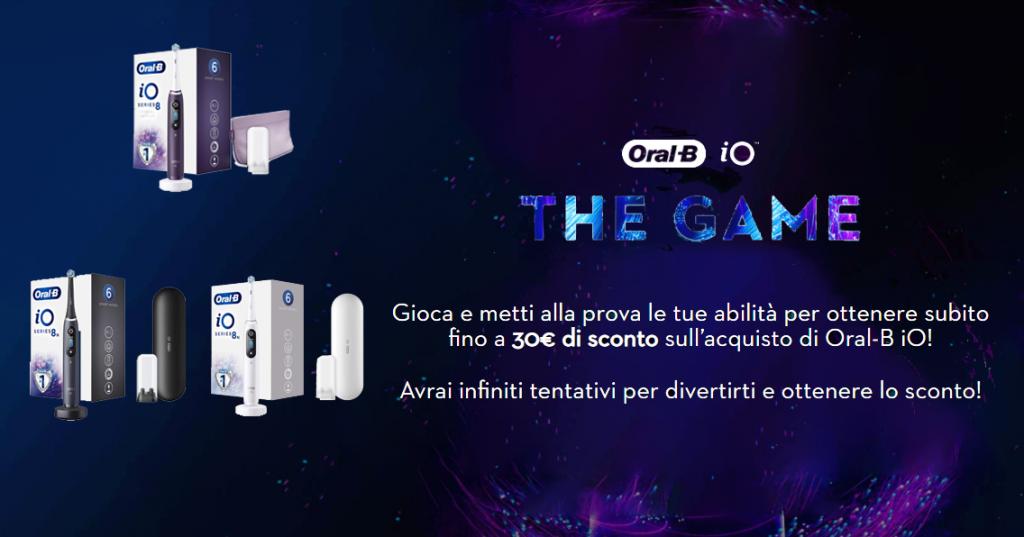Partecipa al gioco interattivo su Amazon, e guadagna punti con la tua abilità! Vinci un buono da 10, 20 o 30 euro da spendere sugli spazzolini elettrici Oral-B.