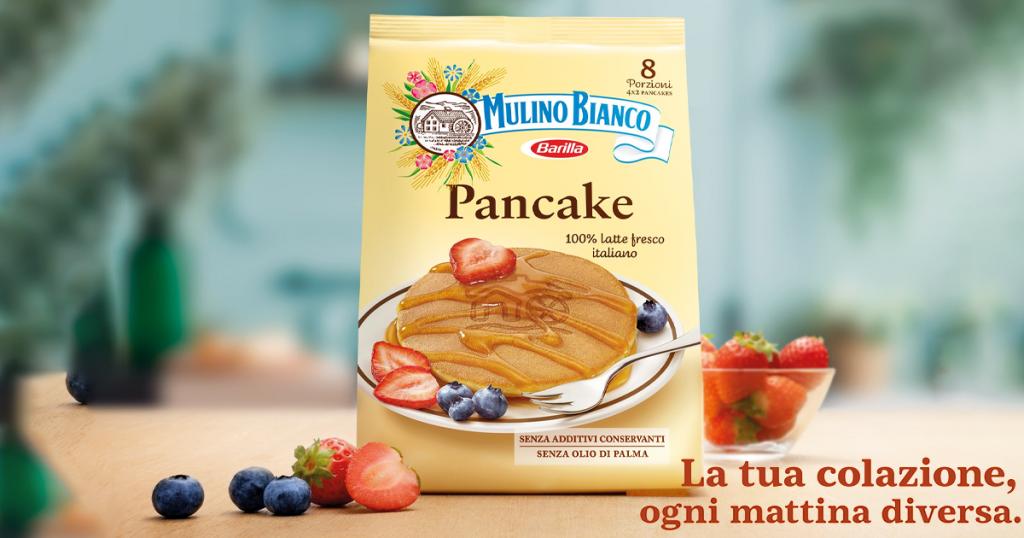 pancakes mulino bianco pubblicità