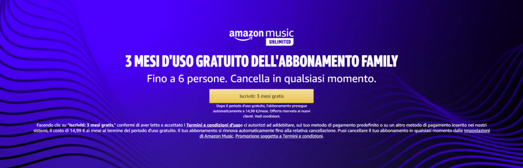 amazon music unlimited family gratis