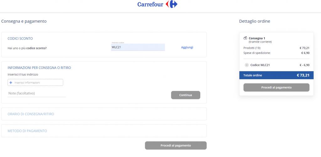carrefour prima consegna gratuita screenshot